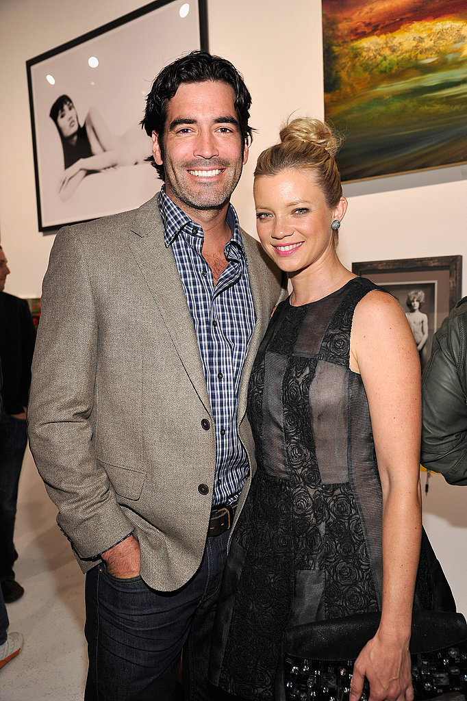 Newlyweds Carter Oosterhouse and Amy Smart at a Livestrong benefit.