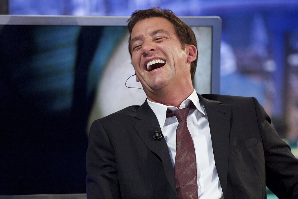 Clive Owen looks so cute laughing!