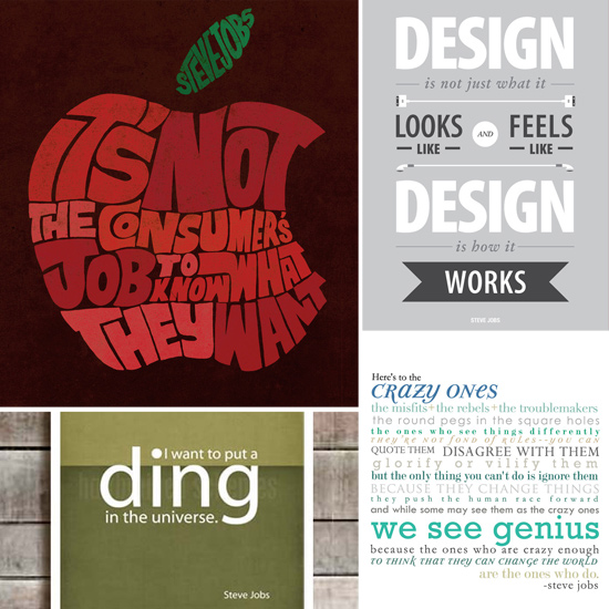 Steve Jobs Quote Posters