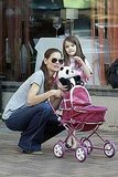Katie Holmes and Suri Cruise stopped for a rest in Pittsburg.