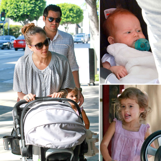 See Jessica Alba's Baby Haven's Adorable Face Out With Jess, Cash, and Honor!