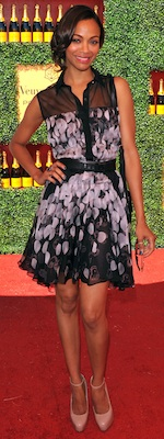 Zoe Saldana in Printed Jason Wu Dress