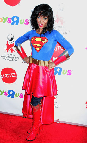 Supergirl Keep it simple like Jada Pinkett Smith's Supergirl costume.