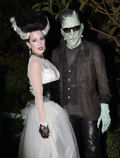 Frankenstein and His Bride Kate Beckinsale and Len Wiseman are Halloween aficionados, and they went for a spooky theme as Frankenstein and the Bride of Frankenstein.