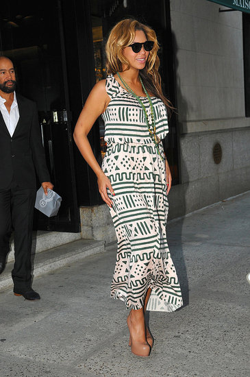 Beyoncé Knowles spent time in the Big Apple.
