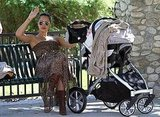 Jessica Alba with Haven at an LA park.