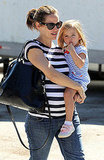 Jennifer Garner carried Seraphina Affleck in LA.