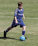 Brooklyn Beckham plays soccer.