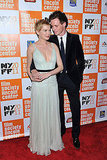 Michelle Williams and Eddie Redmayne were affectionate at the New York Film Festival premiere of My Week With Marilyn.
