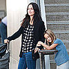 Courteney Cox and Brian Van Holt LAX Pictures