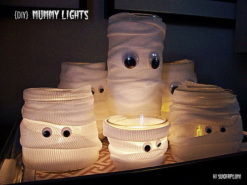 Easy Halloween Mummy Lights
