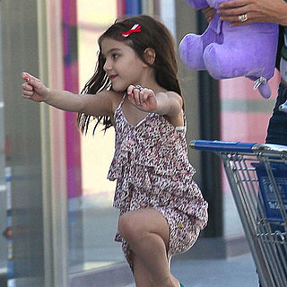 Suri Cruise Jumping For Joy Pictures With Katie Holmes