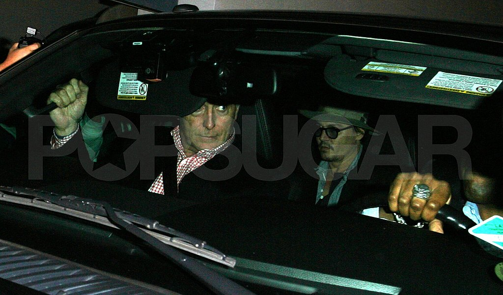 Johnny Depp leaves Madeo in the back seat.