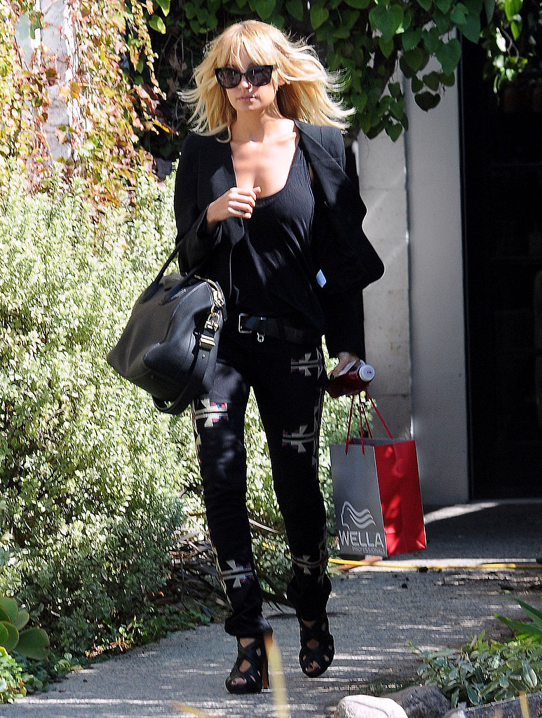 Nicole Richie left a salon in LA.