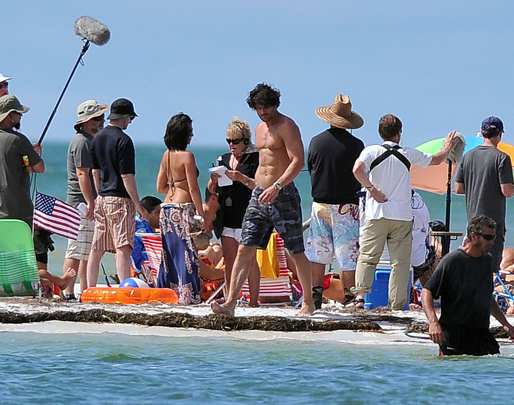 Joe Manganiello got a close look at the water.