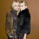 Mary-Kate Olsen and Ashley Olsen stopped for a photo.
