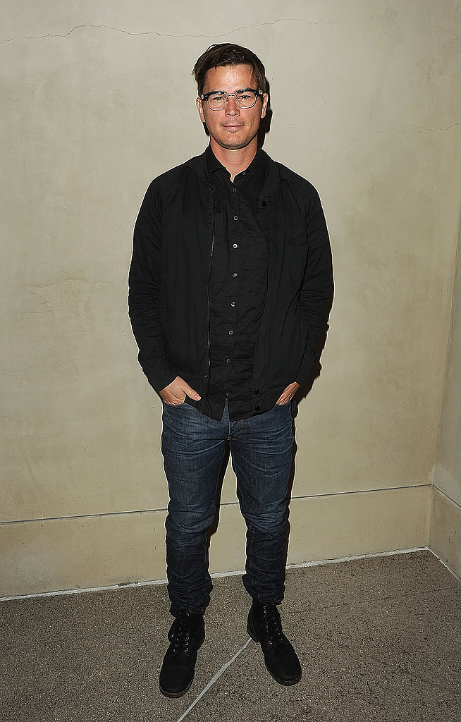 Josh Hartnett looked handsome in basic black.