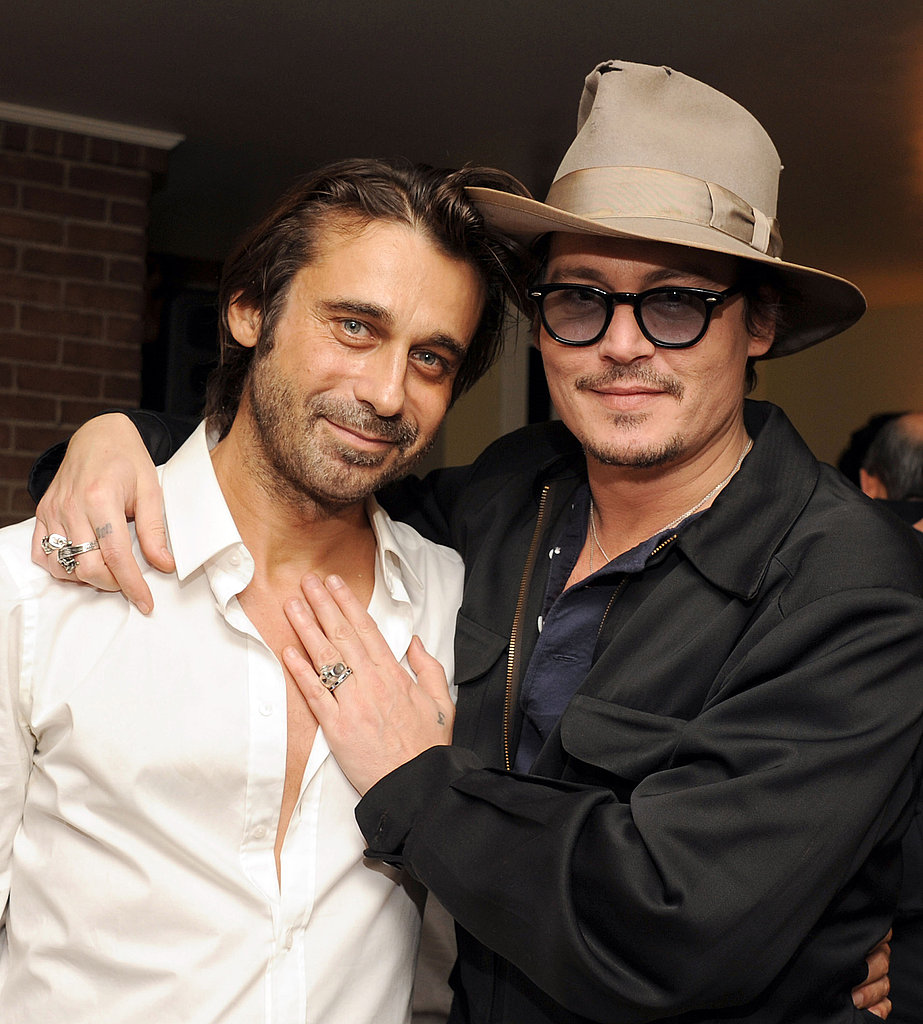 Pals Johnny Depp and Jordi Molla posed for photographers at the Chateau Marmont.