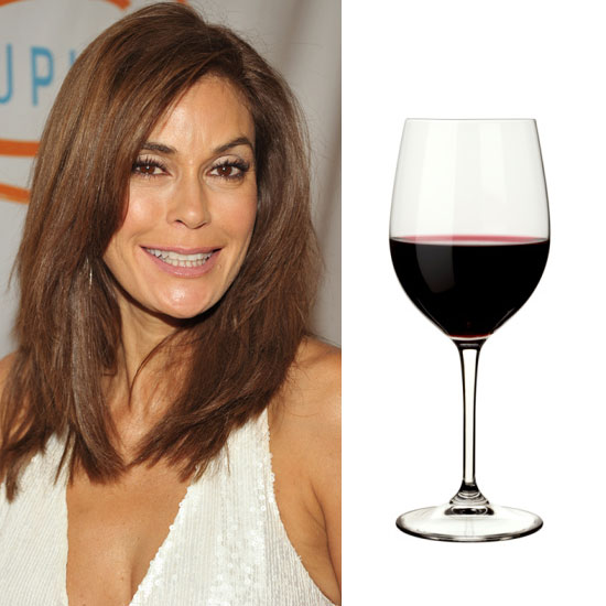 Teri Hatcher Bathes in Red Wine