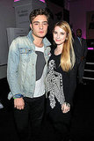 Inside the party Ed Westwick met up with Emma Roberts.