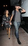 Eva Longoria and Eduardo Cruz went to dinner at Beso.