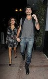 Eva Longoria and Eduardo Cruz held hands on their way to Eva's restaurant.