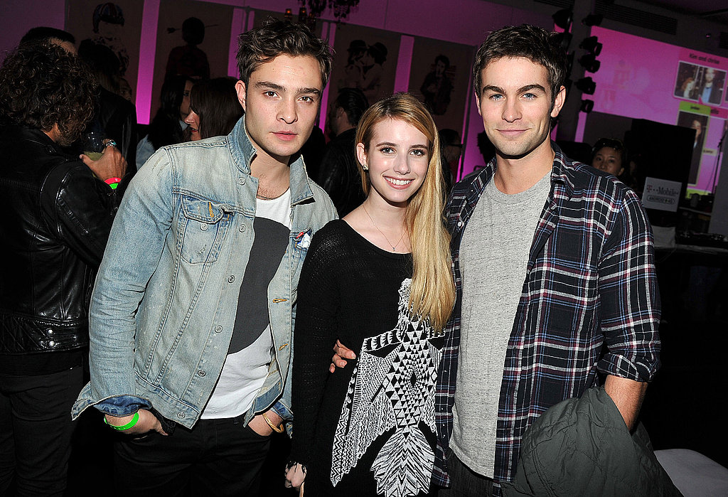 Ed, Emma, and Chace snapped a photo together.