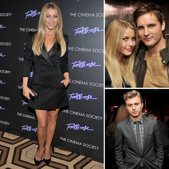 Julianne Hough Sparkles in a Rachel Zoe Tuxedo Dress at the NYC Footloose Premiere