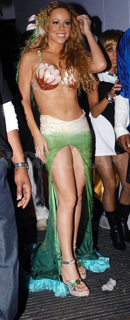 Mariah Carey was a real-life mermaid for a Halloween party at The Collection in London during the Fall of 2003.