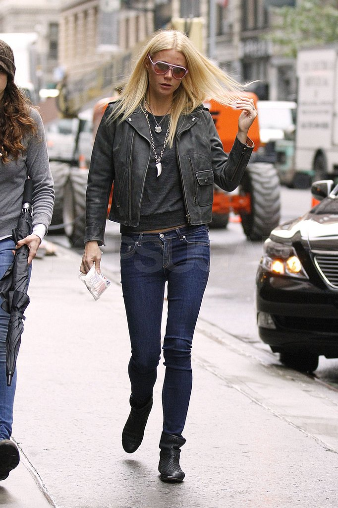 Gwyneth Paltrow wore skinny jeans in NYC.