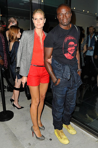 Heidi Klum and Seal at Rankin and Hirst Opening Pictures
