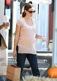 Pregnant Jennifer Garner shops in LA.