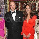 Prince William poses with wife Kate Middleton.