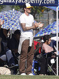 David Beckham cheered on his boys.