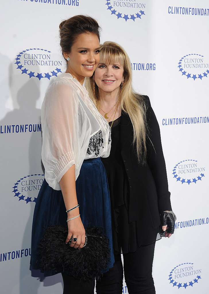 Jessica Alba snapped a photo next to Stevie Nicks.