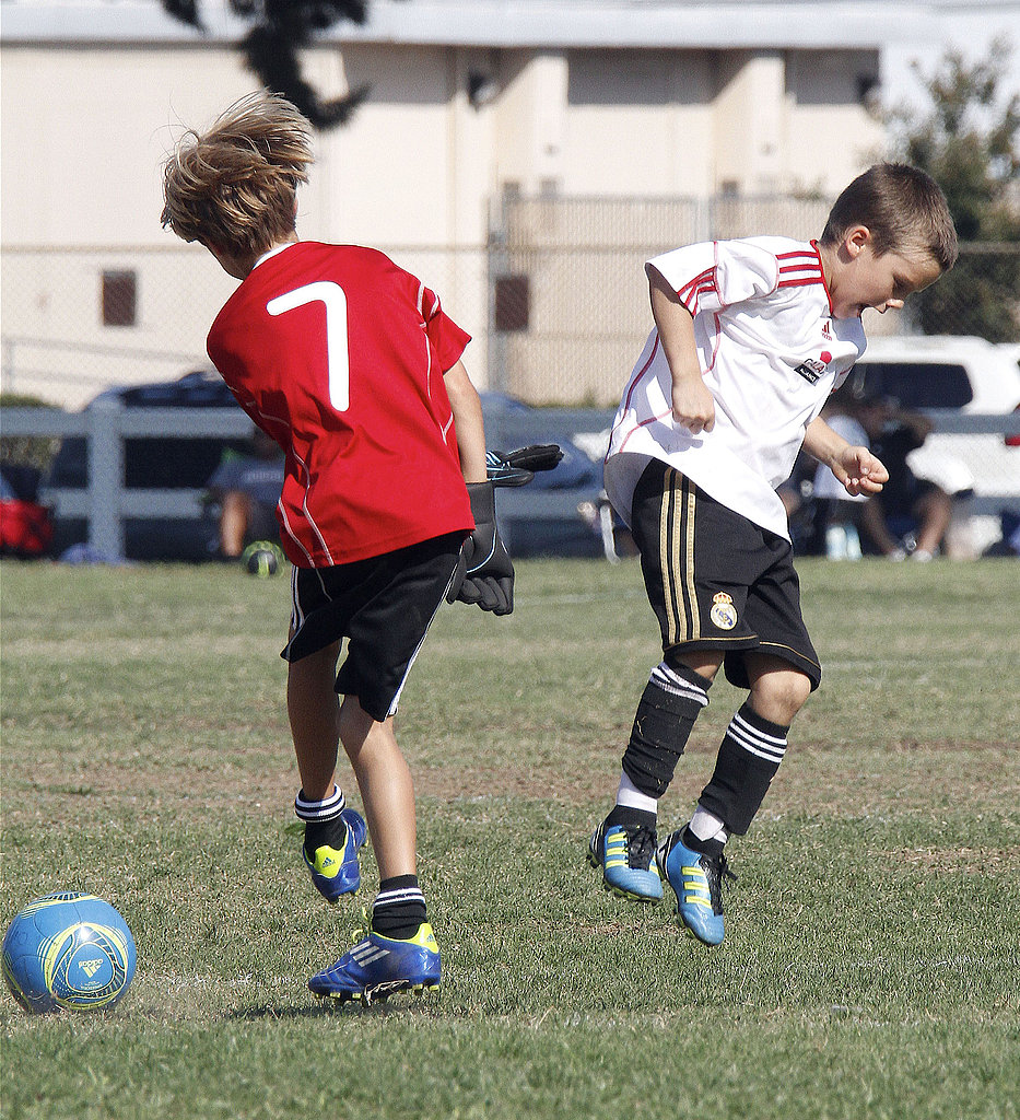 Cruz Beckham played soccer in LA on Saturday.
