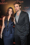 Ashley Greene and Robert Pattinson at the Paris premiere of Breaking Dawn.