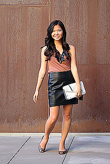Street Style: Inexpensive Leather Skirts