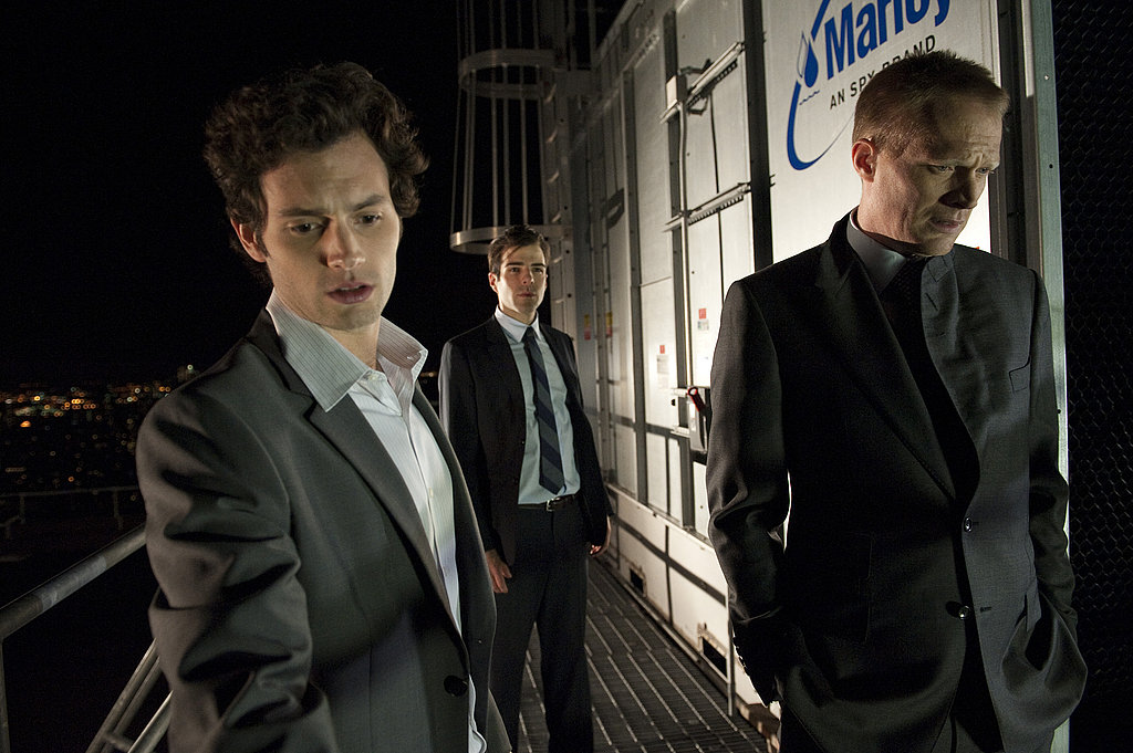 Penn Badgley, Zachary Quinto, and Paul Bettany in Margin Call.  Photo courtesy of Roadside Attractions