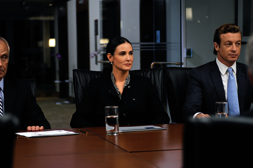Demi Moore and Simon Baker in Margin Call.  Photo courtesy of Roadside Attractions