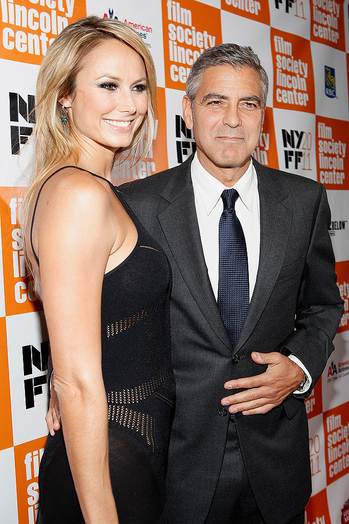 Stacy Keibler showed support for George Clooney's film The Descendants.