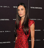 Demi Moore found her mark for photographers at the Margin Call premiere in NYC.
