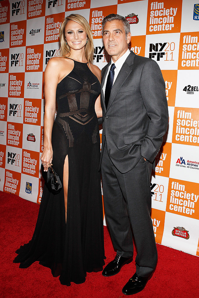 Stacy Keibler and George Clooney posed together at the New York Film Festival.
