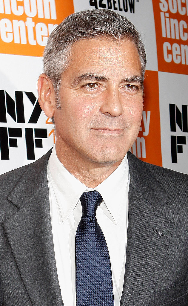 George Clooney attended a screening at the New York Film Festival.