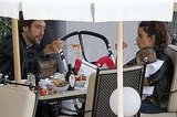 Penelope Cruz, Leo Bardem, and Javier Bardem had a family al fresco lunch.