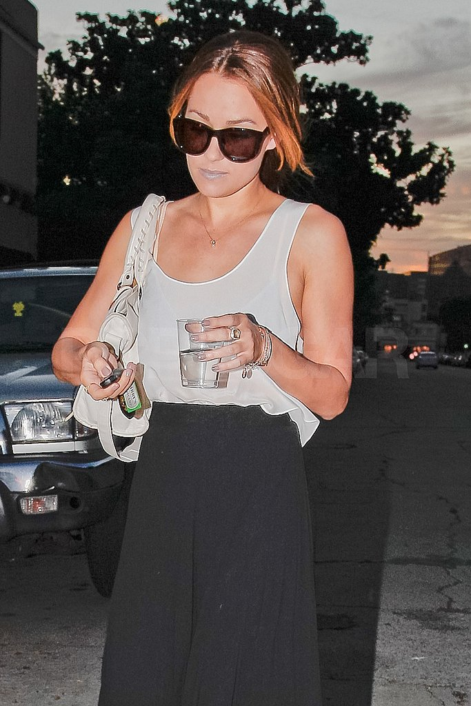 Lauren Conrad sipped on water.