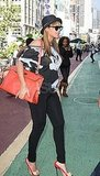 Pregnant Beyoncé out in NYC.