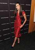 Demi Moore navigated the red carpet in towering Brian Atwood heels.