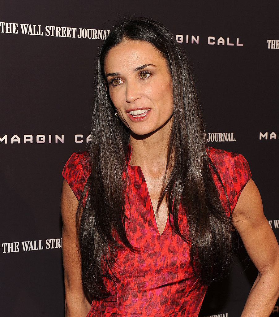 Demi Moore chatted up her new film, Margin Call.