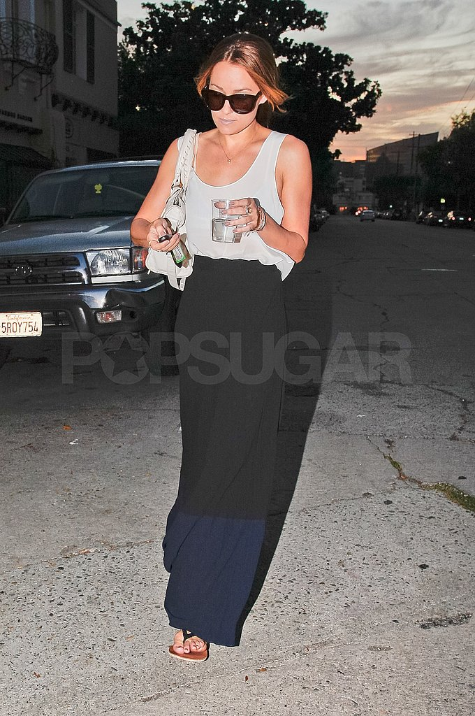 Lauren Conrad looked chic in a maxi skirt.